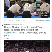 @NBAOfficial Instant Replay on Twitter